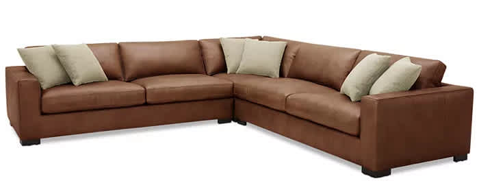Chelby 3-Pc. Leather Sectional Sofa