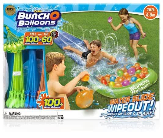 Zuru Bunch O Balloons Water Slide Wipeout w/ 100 Balloons