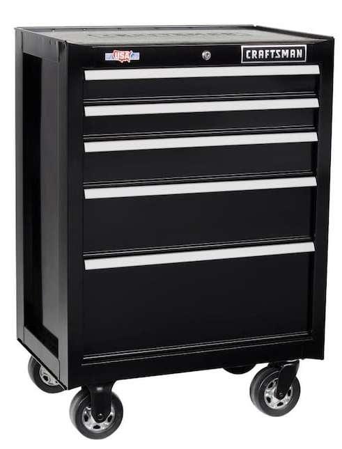 """Craftsman 2000 Series 26.5"""" 5-Drawer Rolling Tool Cabinet"""