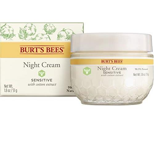 Burt's Bees 小蜜蜂 天然 零敏 晚霜,1.8oz/ 50g