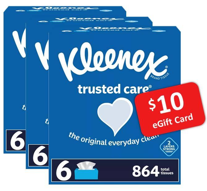18-Pk 144-Ct Kleenex Trusted Care Facial Tissue + $10 Target GC