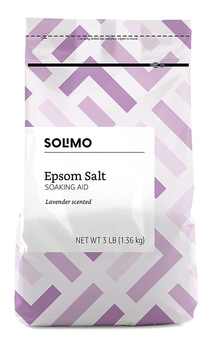 Solimo Epsom Salt Soaking Aid 3-lb. Bag