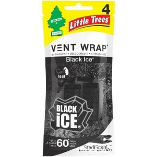 4-Count Little Trees Vent Wrap Car Air Freshener (Black Ice)