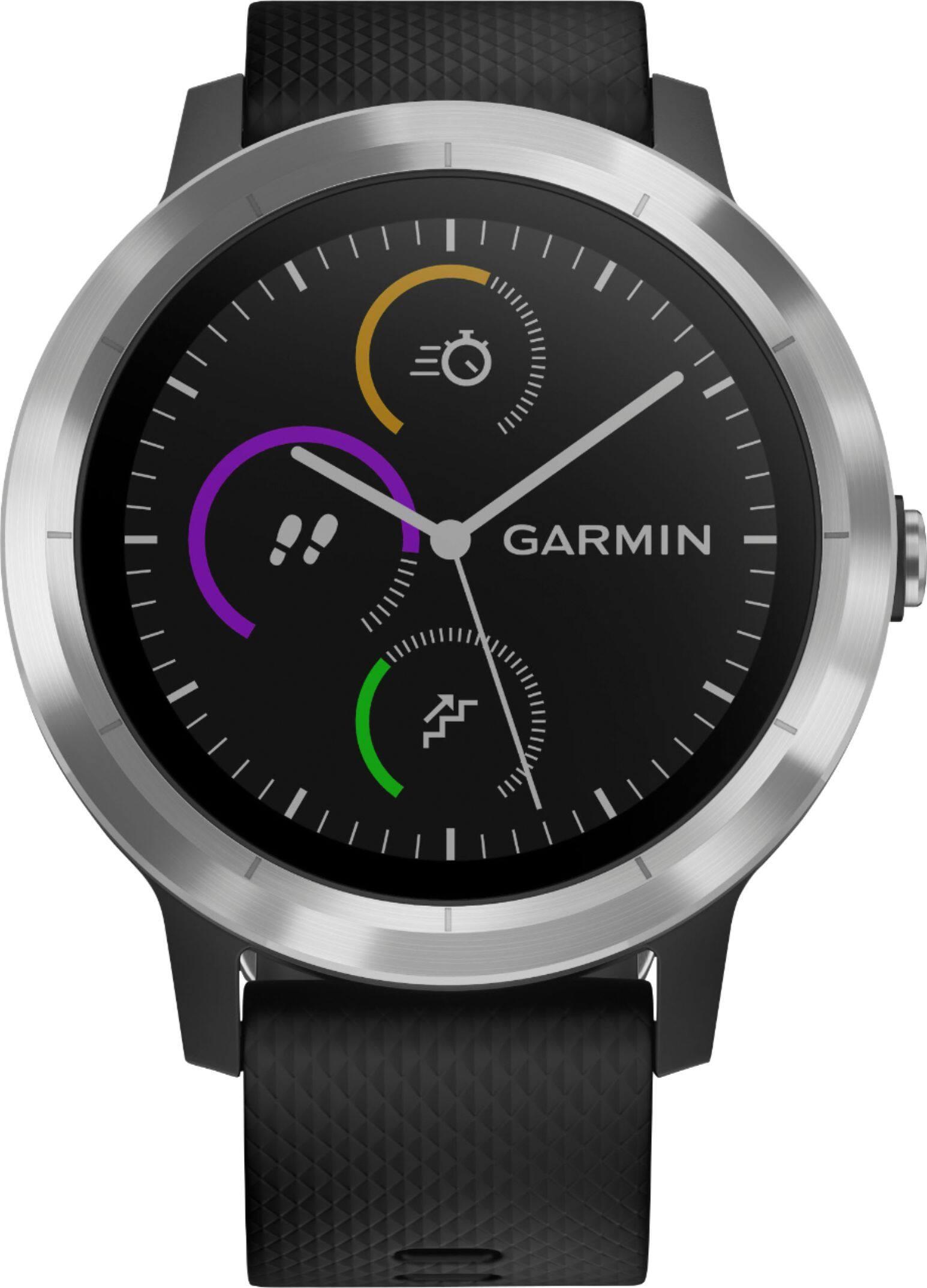 Garmin Vivoactive 3 GPS Smartwatch (Black / Stainless)