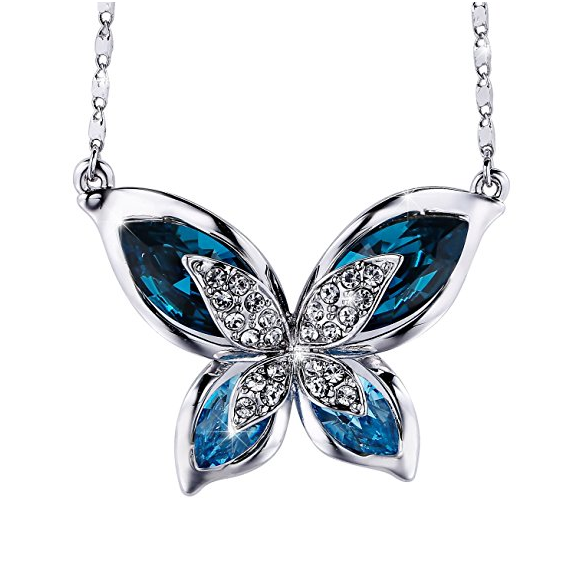 SIVERY Necklaces for Women 'Butterfly' Pendant Necklace Jewelry with New Crystals from Swarovski