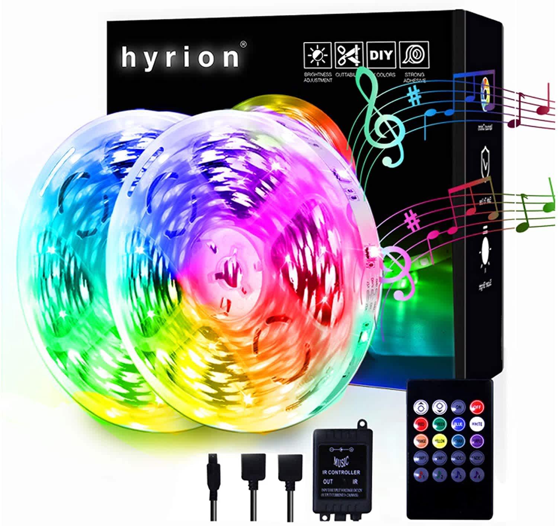 Hyrion 65.6-Ft. LED Music Sync Strip Lights