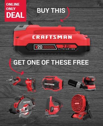 Bonus Tool w/ Purchase of Craftsman 20V MAX 2 Ah Li-Ion Battery/Charger