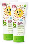 2-Count Babyganics SPF 50 Baby Sunscreen Lotion UVA UVB Protection