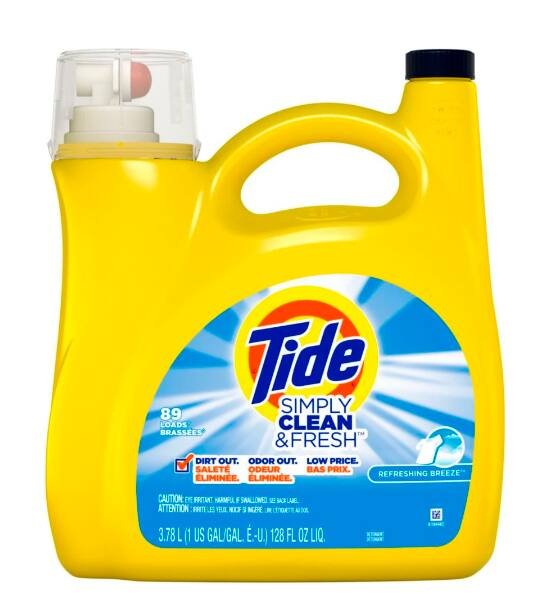 128-Oz Tide Simply Clean & Fresh Liquid Laundry Detergent (Refreshing Breeze)