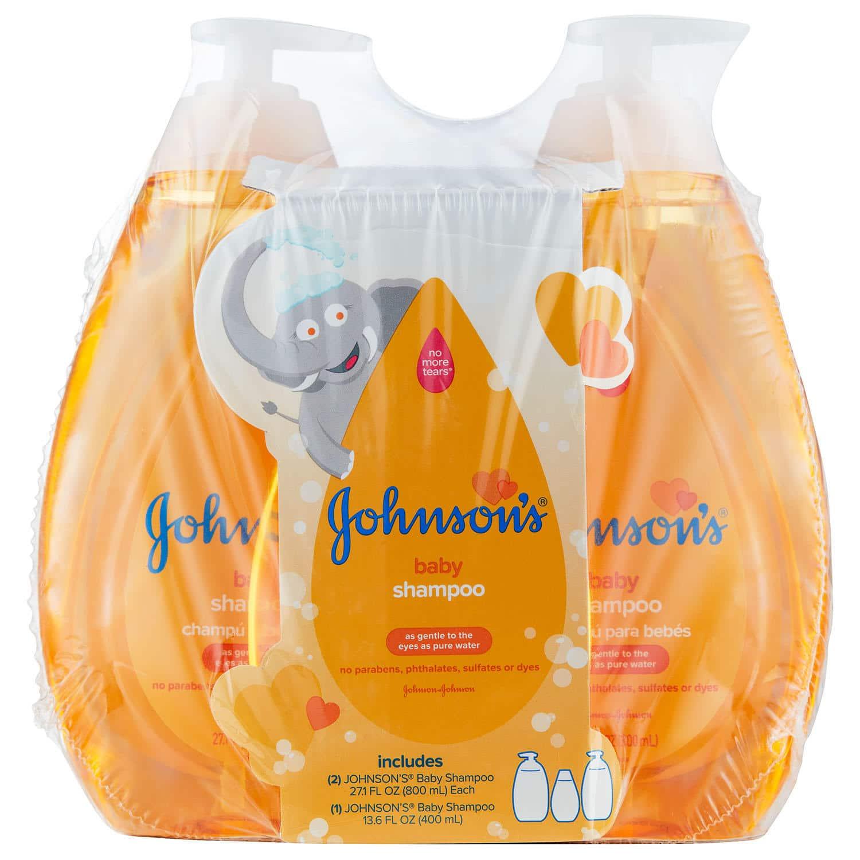 Sam's Club Members: 2-Ct 27.1-Oz + 13.6-Oz Johnson's Baby Shampoo