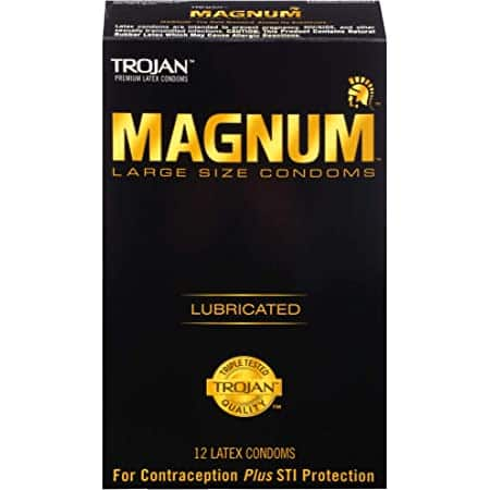 36-Count Trojan Magnum Large Size Lubricated Condoms