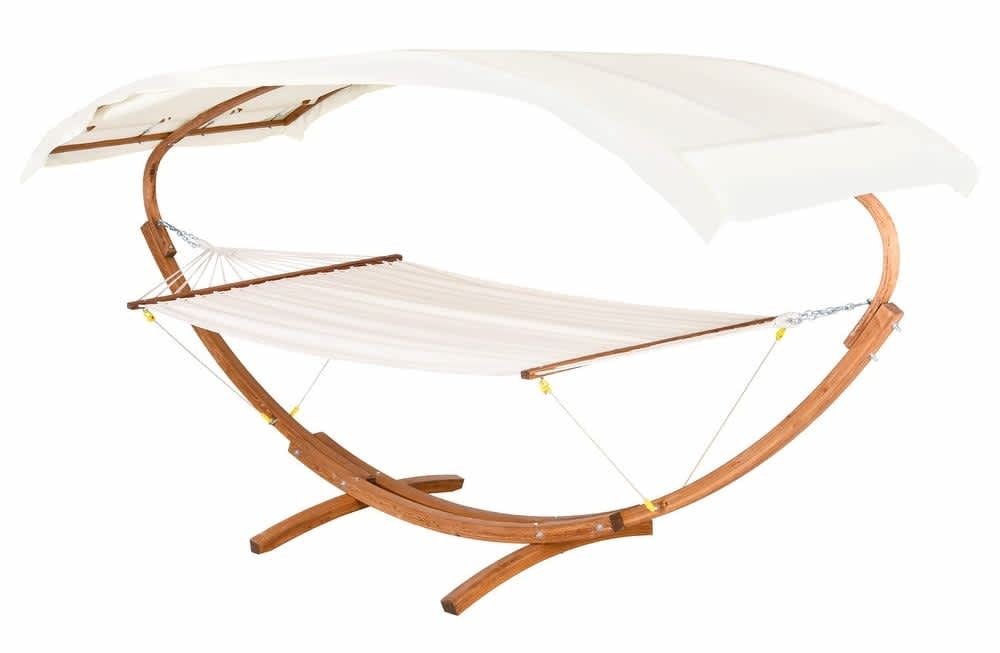 Outsunny 13-Ft. Roman Arc 2-Person Hammock Stand w/ Canopy