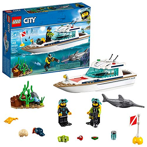 LEGO City Great Vehicles Diving Yacht 60221 Building Kit (148 Pieces), List Price is