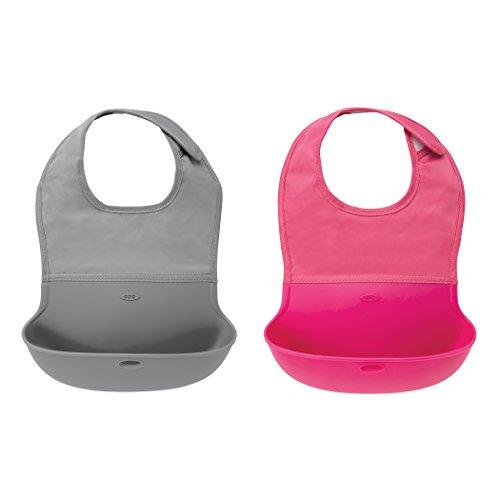OXO 婴儿软硅胶可折叠防水围兜,2个