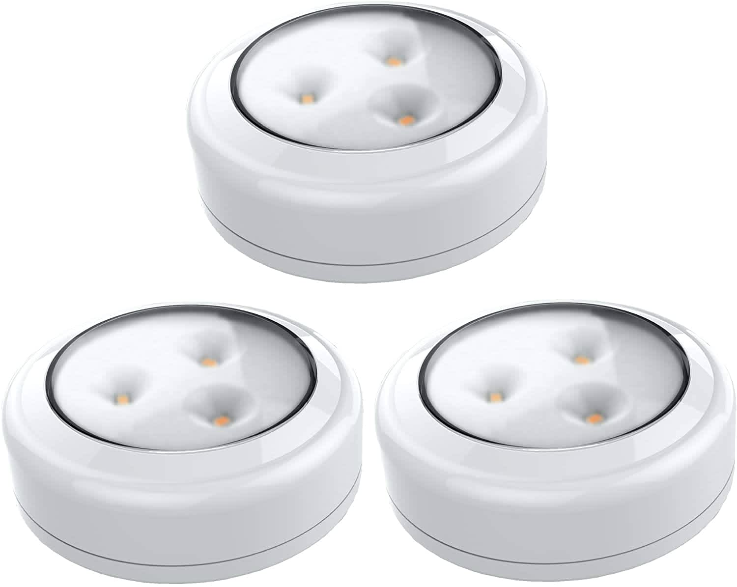 Brilliant Evolution Wireless LED Puck Light 3-Pack