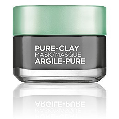 L'Oréal Paris Skincare Pure-Clay Face Mask with Charcoal for Dull Skin to Detox & Brighten Skin, 1.7 oz.