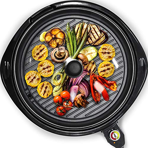"Maxi-Matic Elite Gourmet EMG-980B Indoor Electric Grill, 14"" Round, Black, List Price is"