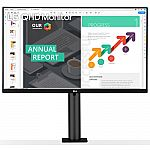 """27"""" LG 27QN880-B QHD 2560x1440 IPS HDR10 USB-C w/ PD Monitor w/ Ergo Stand"""