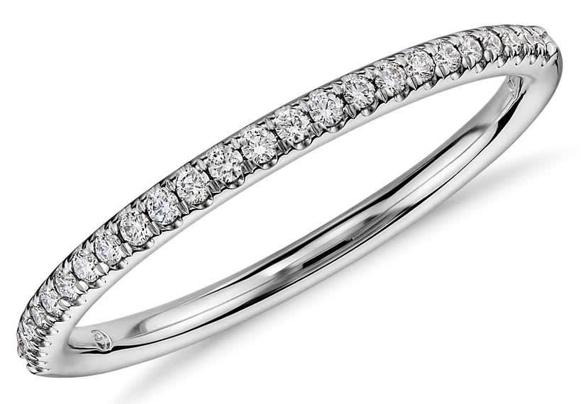 Blue Nile 1/10-TCW Diamond Petite Micropave Ring