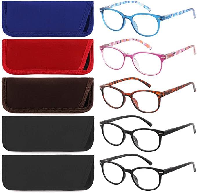Hiojos Reading Glasses 5-pack