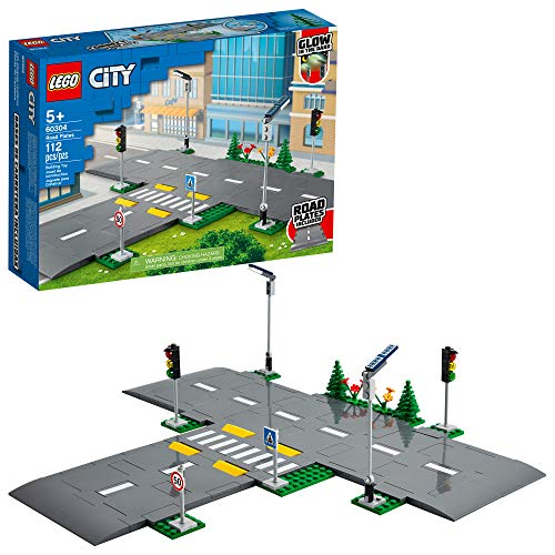 LEGO City Road Plates 60304 Building Kit; Cool Building Toy for Kids, New 2021 (112 Pieces), List Price is