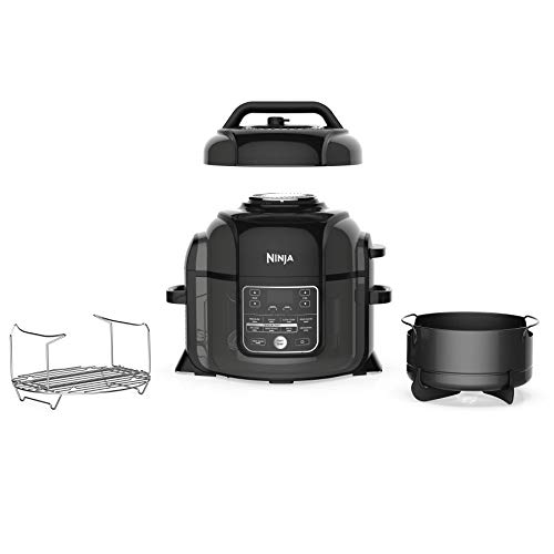 Ninja OP302 Foodi Cooker, Steamer & Air w/TenderCrisp Technology Pressure Cooker & Air Fryer All-in-One, 6.5 quart