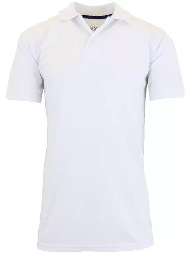 Galaxy by Harvic Men's Tagless Polo Shirt