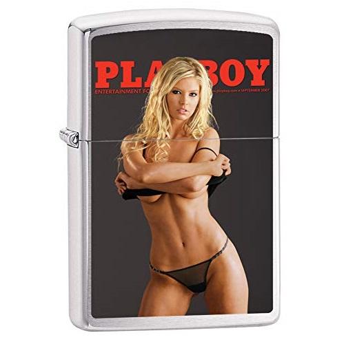 Zippo Playboy Cover September 2007 Pocket Lighter, Brushed Chrome, One Size (200-CI017364)