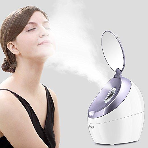 OKACHI GLIYA Steamer Warm Mist Moisturizing Nano Ionic Facial Steamer