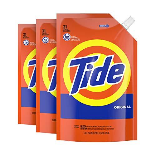 Tide Liquid Laundry Detergent Soap Pouches, HE, Pack of 3
