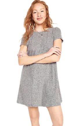 Old Navy Women's Linen-Blend Jersey Swing Dress