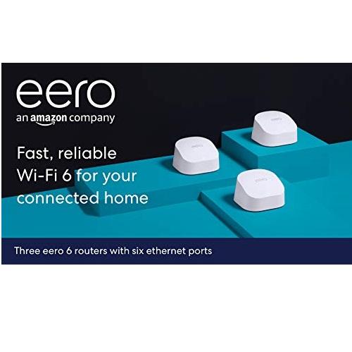 仅限Prime会员!史低价!Eero 6 mesh Wifi 路由系统