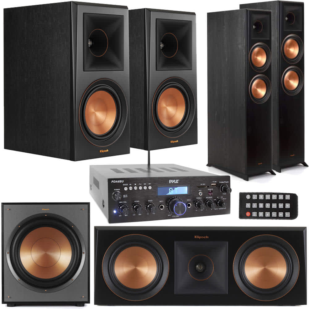 Klipsch Reference Premiere Home Theater Bundle w/ Pyle Bluetooth Receiver