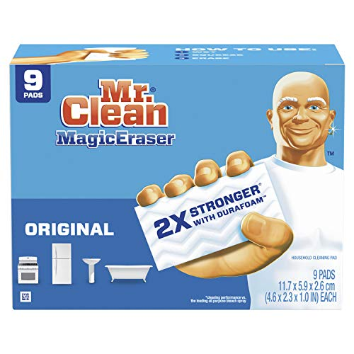 Mr Clean Magic Eraser Original, Cleaning Pads with Durafoam, 9 Count, List Price is