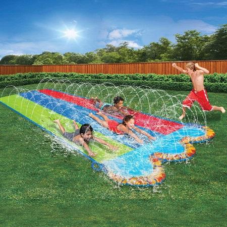 BANZAI 3色可喷水滑梯垫,82吋x16英尺