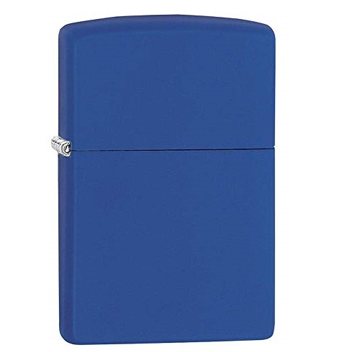 Zippo 229 Pocket Lighter, Royal Blue Matte, One Size