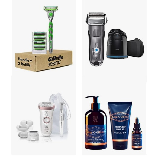 Up to 33% off Razors and Refills from Braun, Gillette, and more