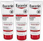 9-Pk 8 oz Eucerin Eczema Relief Cream Full Body Lotion