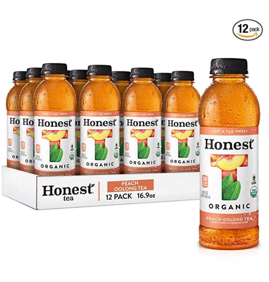 Honest Tea Organic Fair Trade Tea Peach Oolong, 16.9 Fl Oz (Pack of 12)