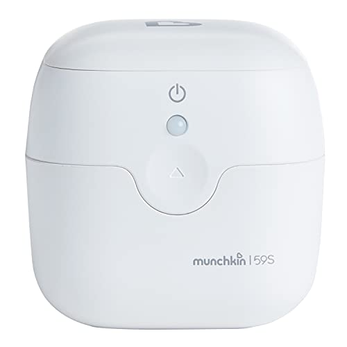 Munchkin Portable UV Sterilizer and Sanitizer Box, Eliminates 99.99% of Germs in 59 Seconds, Mini UV-C Cleaner for Pacifiers and More, White, Now