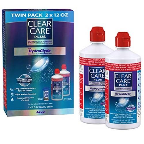史低价! Clear Care 彻底清洗隐形眼镜液,12 oz/瓶,两瓶装