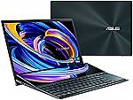 """ASUS ZenBook Pro Duo 15 OLED UX582 15.6"""" OLED 4K UHD Touch Laptop (i9-10980HK, 32GB 1TB SSD RTX 3070, UX582LR-XS94T)"""