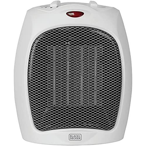 BLACK+DECKER Desktop Heater, Small, White, List Price is