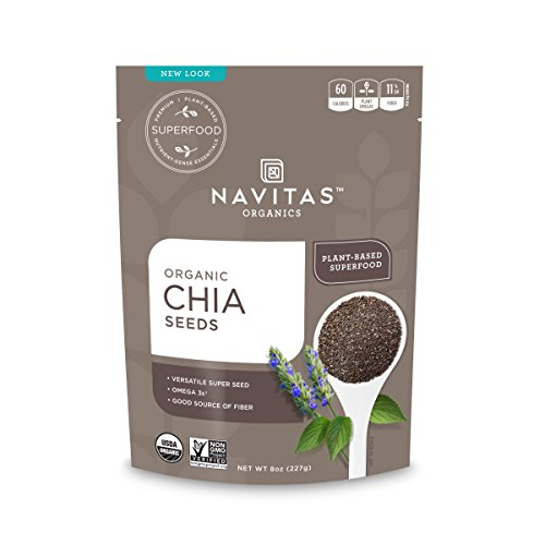 Navitas Organics Chia Seeds, 8 oz. Bag, 19 Servings