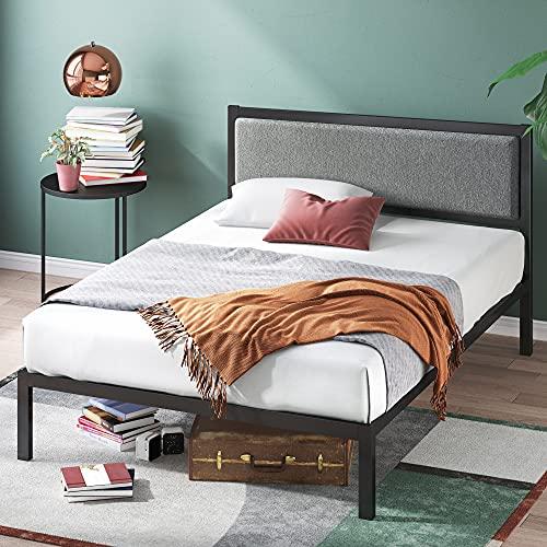 Zinus Korey 金属床架,带床头板,14吋高,King