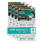 4-Pack 3M Filtrete Allergen Air Filter (MPR 1200, MERV 11)