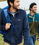 L.L.Bean Men's Adventure Hybrid Fleece Full-Zip Jacket