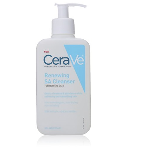 CeraVe Renewing SA Cleanser 8 oz Salicylic Acid Body Cleanser Normal Skin