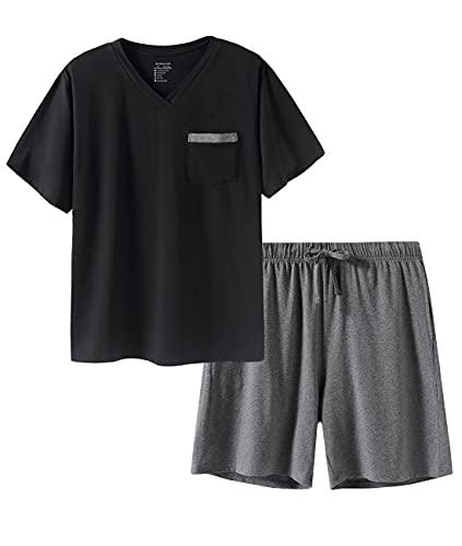 SANQIANG Lightweight Cotton Spandex Pajamas Set