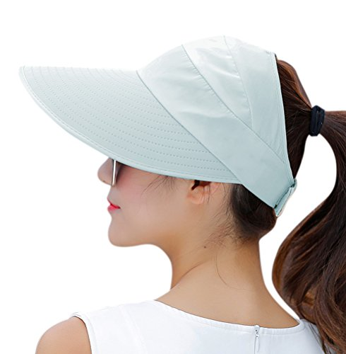 HINDAWI Sun Hat Sun Hats for Women UV Protection Wide Brim Packable Visor Womens Floppy Beach Outdoor Caps Sky Blue, List Price is